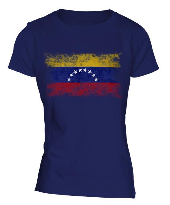 Venezuela Distressed Flag Ladies T-Shirt