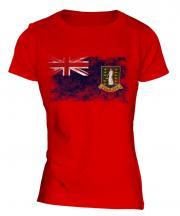 Uk Virgin Islands Distressed Flag Ladies T-Shirt