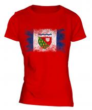 Northwest Territories Distressed Flag Ladies T-Shirt