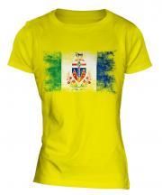 Yukon Distressed Flag Ladies T-Shirt