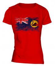 Western Australia Distressed Flag Ladies T-Shirt