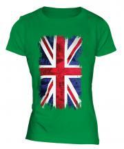 Union Jack Grunge Flag Ladies T-Shirt