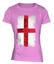 England St George Grunge Flag Ladies T-Shirt