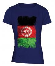 Afghanistan Grunge Flag Ladies T-Shirt