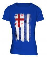 Ajaria Grunge Flag Ladies T-Shirt