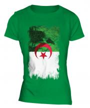 Algeria Grunge Flag Ladies T-Shirt