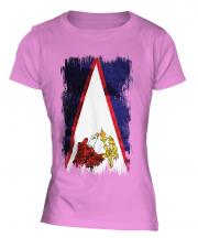 American Samoa Grunge Flag Ladies T-Shirt