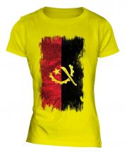 Angola Grunge Flag Ladies T-Shirt