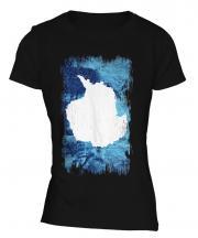 Antartica Grunge Flag Ladies T-Shirt