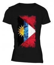 Antigua And Barbuda Grunge Flag Ladies T-Shirt