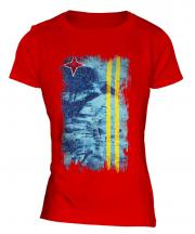 Aruba Grunge Flag Ladies T-Shirt