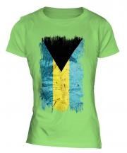 Bahamas Grunge Flag Ladies T-Shirt