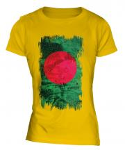 Bangladesh Grunge Flag Ladies T-Shirt
