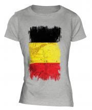 Belgium Grunge Flag Ladies T-Shirt