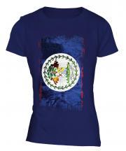Belize Grunge Flag Ladies T-Shirt