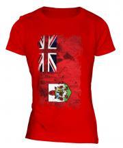 Bermuda Grunge Flag Ladies T-Shirt