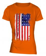 Bikini Atoll Grunge Flag Ladies T-Shirt
