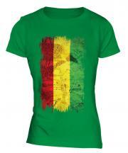 Bolivia Grunge Flag Ladies T-Shirt