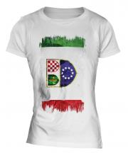 Bosnia And Herzegovina Federation Grunge Flag Ladies T-Shirt