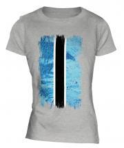 Botswana Grunge Flag Ladies T-Shirt