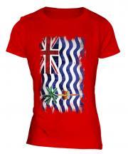 British Indian Ocean Territory Grunge Flag Ladies T-Shirt