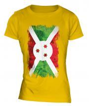 Burundi Grunge Flag Ladies T-Shirt