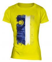 Buryatia Grunge Flag Ladies T-Shirt