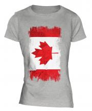 Canada Grunge Flag Ladies T-Shirt