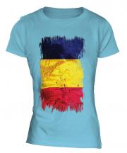 Chad Grunge Flag Ladies T-Shirt