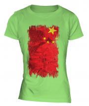 China Grunge Flag Ladies T-Shirt