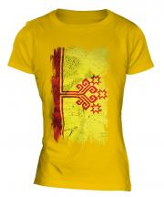 Chuvashia Grunge Flag Ladies T-Shirt