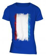 Crimea Grunge Flag Ladies T-Shirt