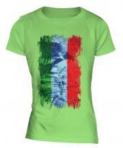 Dagestan Grunge Flag Ladies T-Shirt