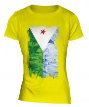 Djibouti Grunge Flag Ladies T-Shirt