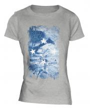 Micronesia Grunge Flag Ladies T-Shirt