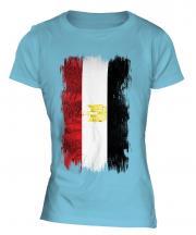 Egypt Grunge Flag Ladies T-Shirt