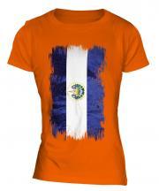 El Salvador Grunge Flag Ladies T-Shirt