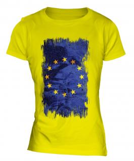 European Union Grunge Flag Ladies T-Shirt