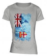 Fiji Grunge Flag Ladies T-Shirt
