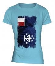 French Southern And Antarctic Lands Grunge Flag Ladies T-Shirt