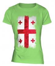 Georgia Grunge Flag Ladies T-Shirt