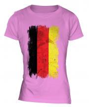 Germany Grunge Flag Ladies T-Shirt