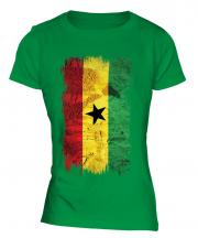 Ghana Grunge Flag Ladies T-Shirt