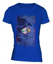 Guam Grunge Flag Ladies T-Shirt