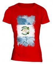 Guatemala Grunge Flag Ladies T-Shirt