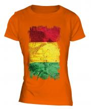 Guinea Grunge Flag Ladies T-Shirt