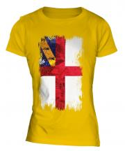 Herm Grunge Flag Ladies T-Shirt