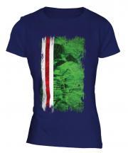 Ichkeria Grunge Flag Ladies T-Shirt
