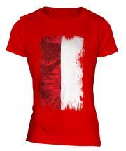 Indonesia Grunge Flag Ladies T-Shirt