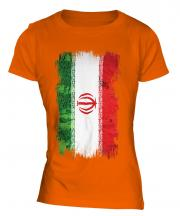 Iran Grunge Flag Ladies T-Shirt
